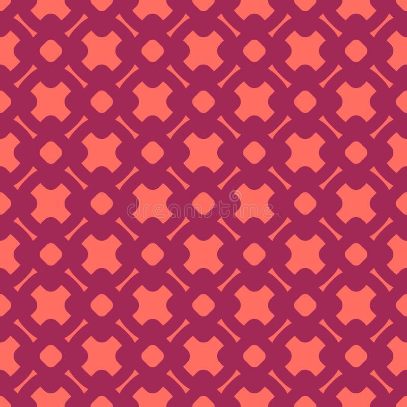 E 伯根地和居住的珊瑚颜色 向量例证