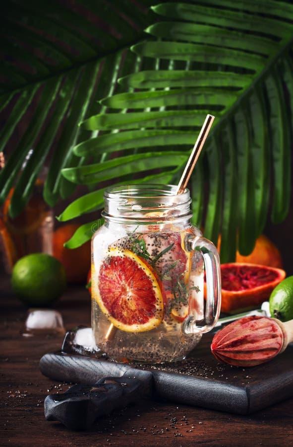 E 健康健身饮料 烹调的成份  图库摄影