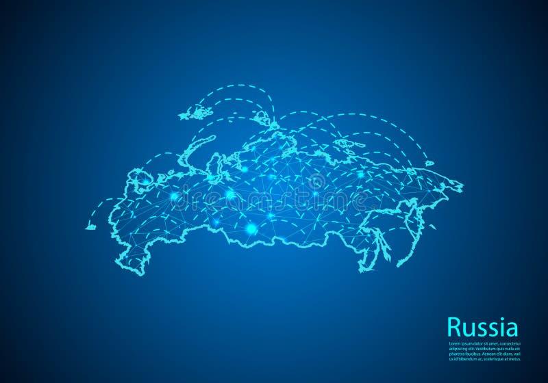 E 全球性通信和事务的概念 r 向量例证