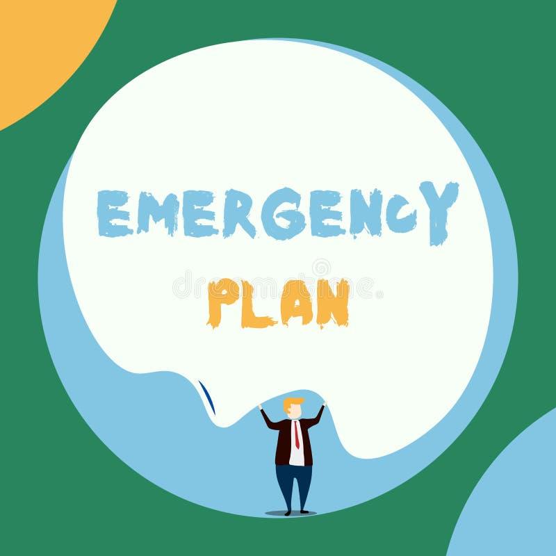 E 反应的企业照片陈列的做法对主要的紧急事件 向量例证
