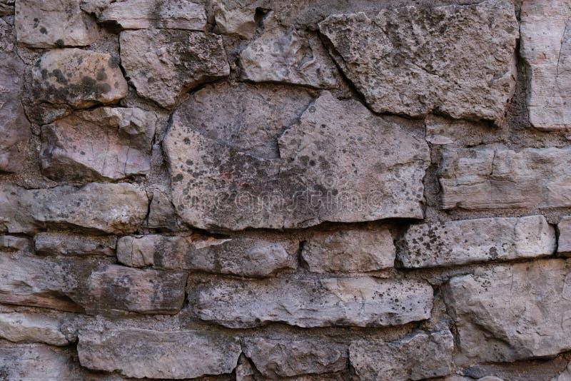E 古老墙壁 石工纹理,石制品样式背景 免版税库存照片