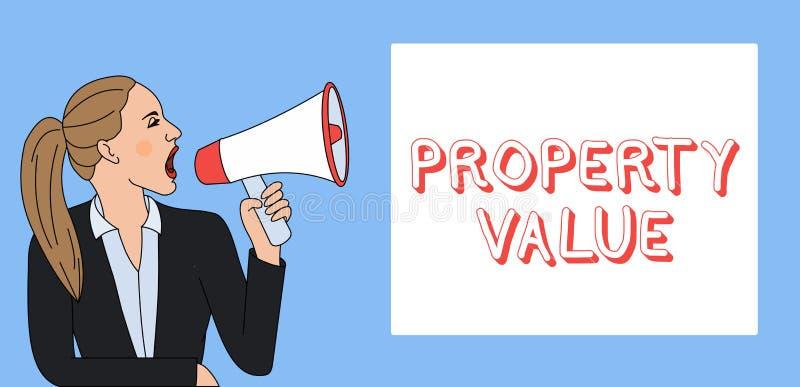 E 土地不动产评估公平的市场售价的企业照片陈列的价值 皇族释放例证
