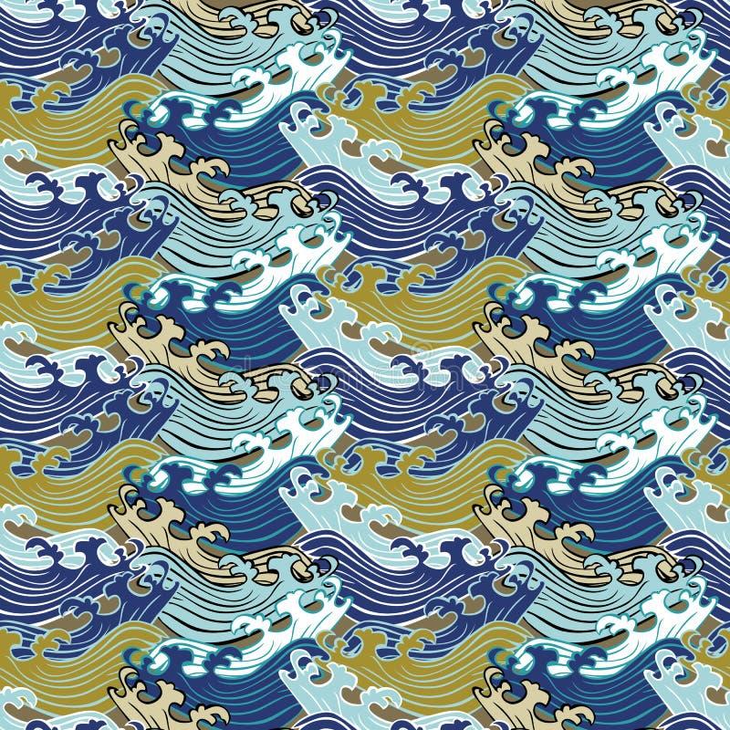 E 在几何行的Swirly装饰品 库存例证