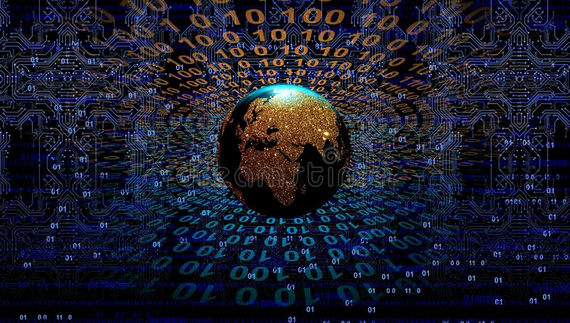E 地球技术通信 皇族释放例证