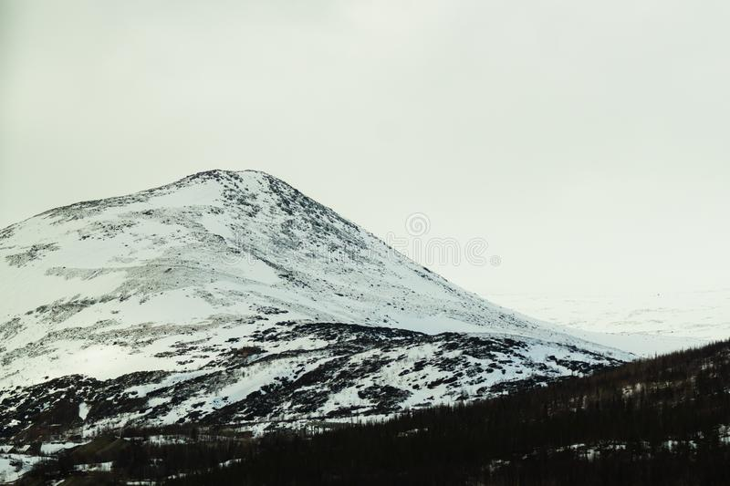 E 多雪的小山 图库摄影