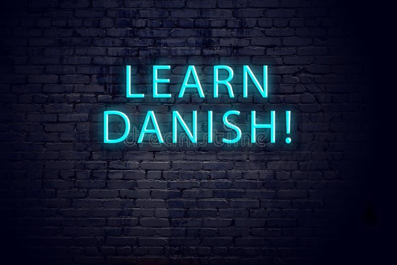 E 学会丹麦语的概念 库存图片