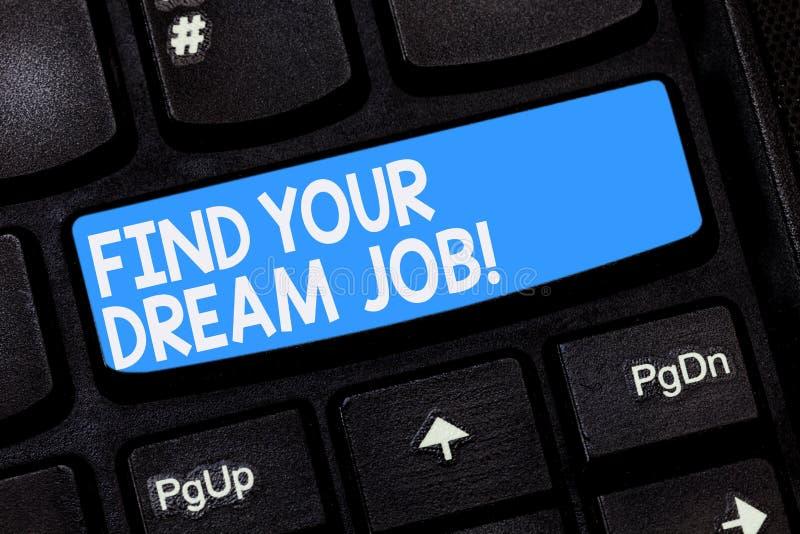 E 寻找的企业概念在公司事业成功键盘的工作位置的 库存照片