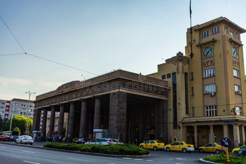 E 布加勒斯特北部火车站或Gara de诺德布加勒斯特 免版税库存照片