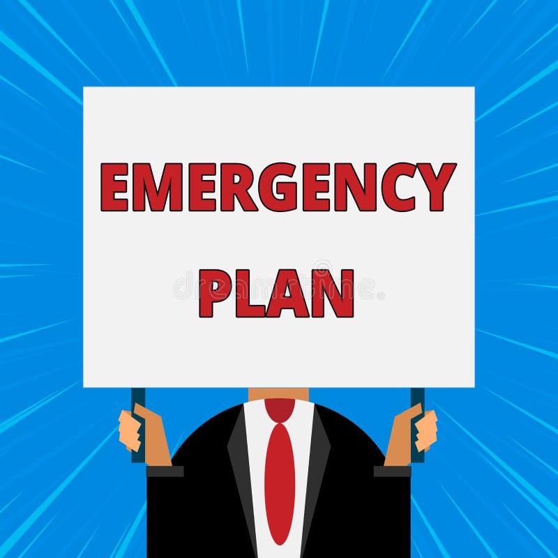 E 意味反应的概念做法对主要的紧急事件准备  向量例证