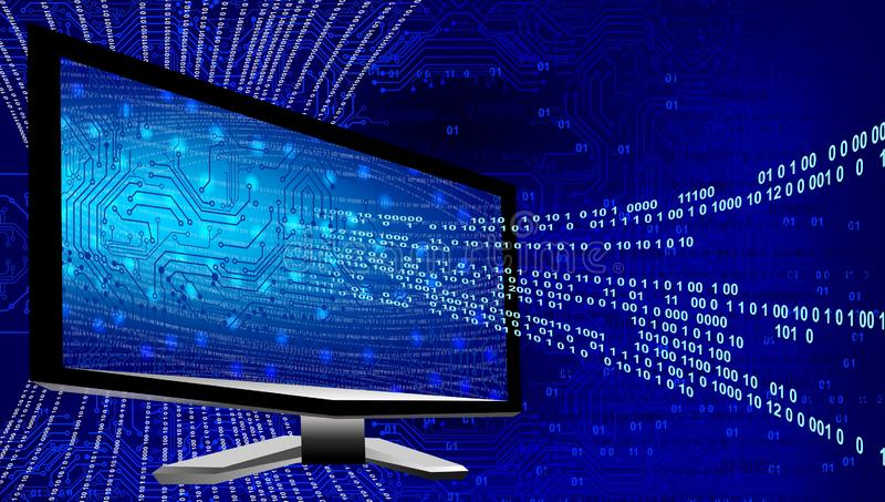 E 技术通信 库存例证