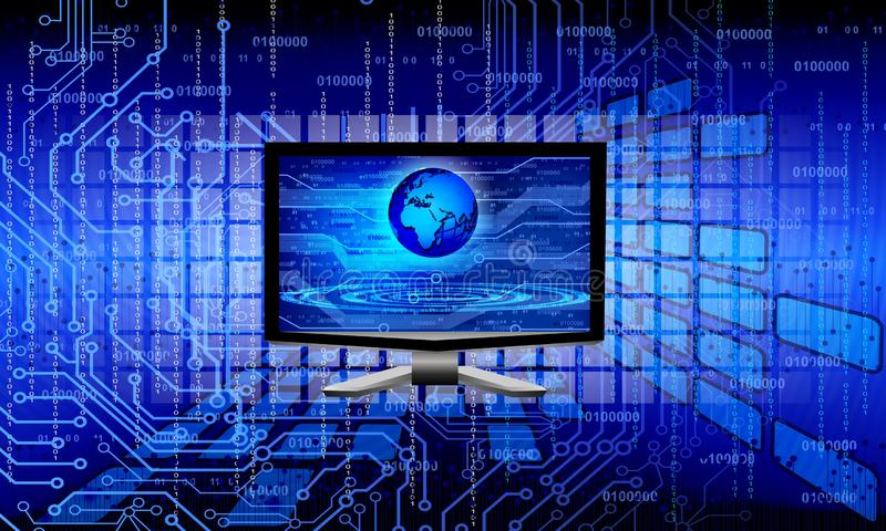 E 技术通信 向量例证