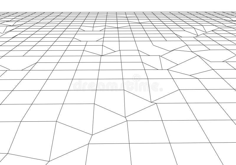 E 抽象滤网背景 多角形山 80s减速火箭的科学幻想小说背景 r 库存例证