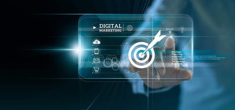 E 接触在现代接口的商人开关到企业目标和象顾客网络连接 免版税库存照片