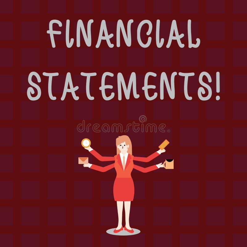 E 提供金融服务的概念性照片通过利用软件 库存例证