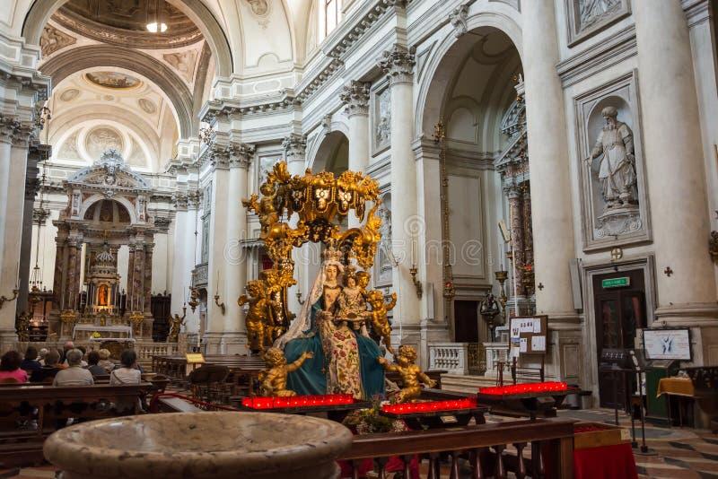 ?? 2019?6? E 教会圣玛丽亚del罗萨里奥Gesuati的内部 免版税库存照片