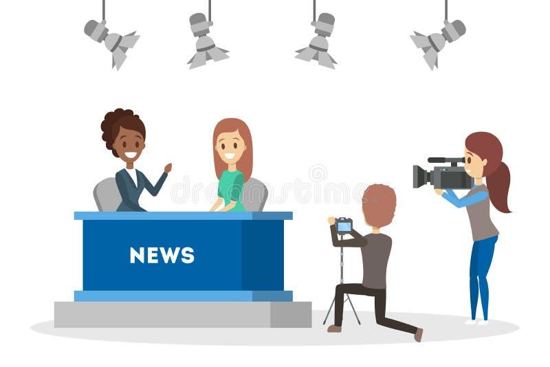 E 新闻广播员 向量例证