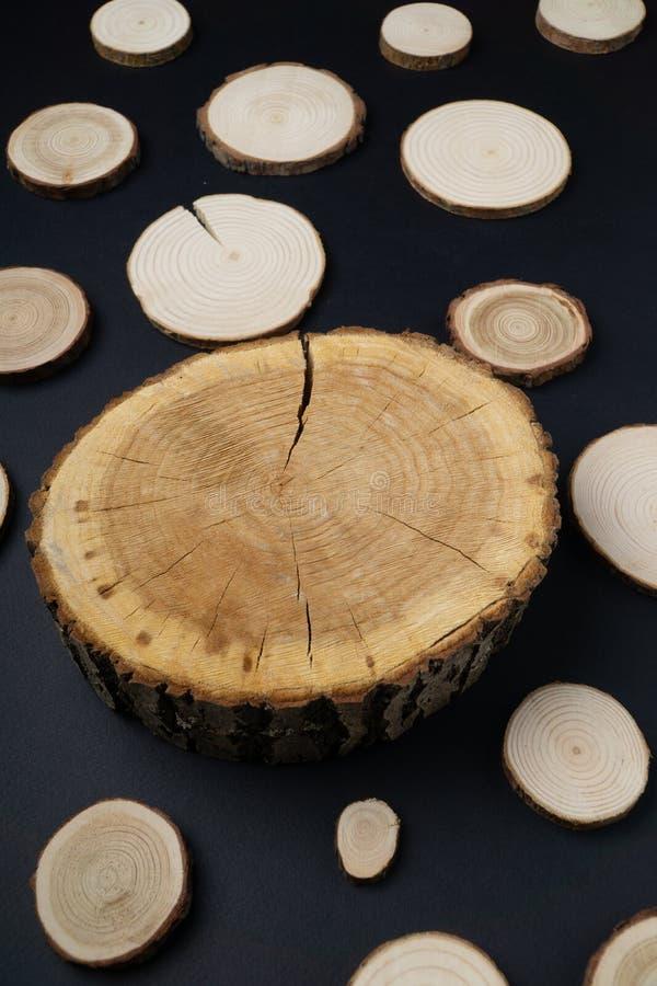 E 木材片断特写镜头 免版税库存照片