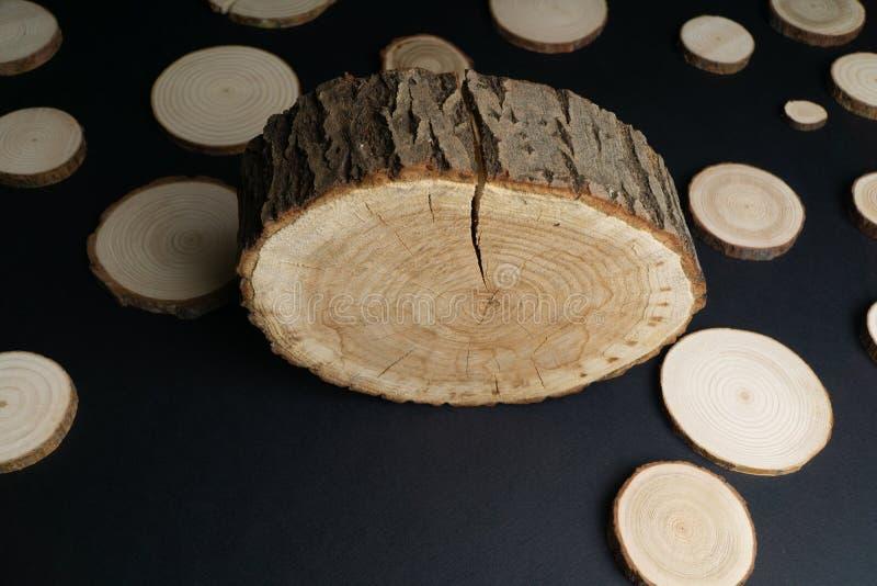 E 木材片断特写镜头 库存照片