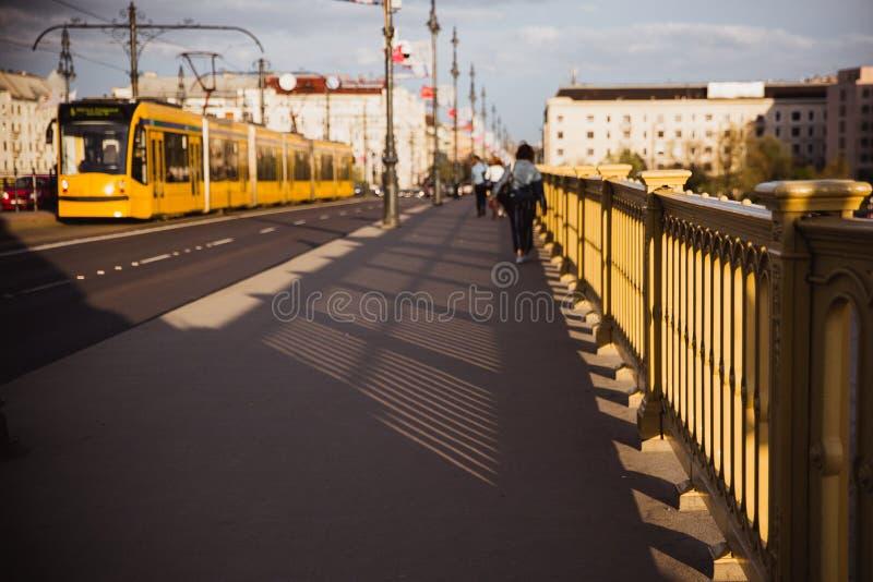 E 桥梁连接Buda、虫和玛格丽特海岛 免版税库存照片