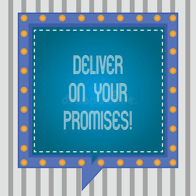 E 概念性照片做什么您许诺了承诺发行方形的讲话 皇族释放例证
