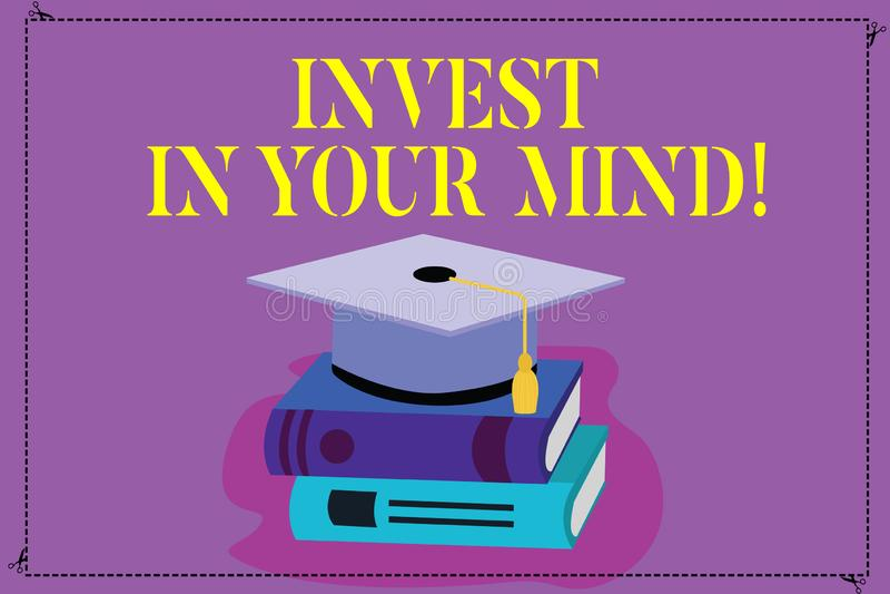 E 概念意思得到更多教育改进自己颜色毕业的新知识 向量例证
