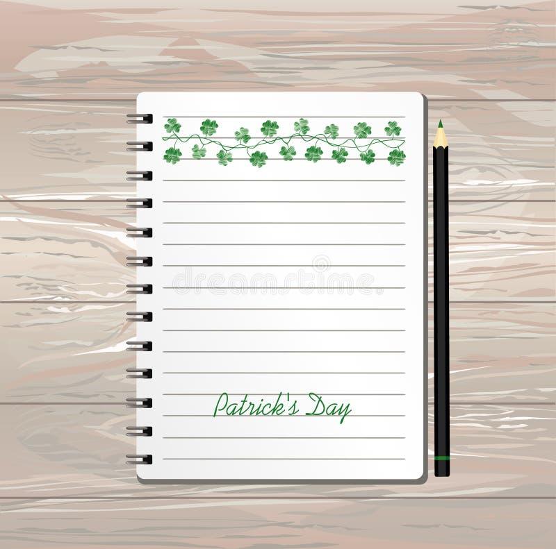 E 爱尔兰假日-与雀鳝的愉快的圣帕特里克的天 向量例证