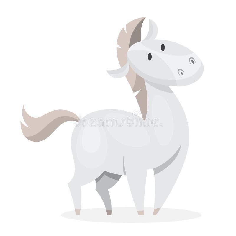 E 白色哺乳动物 向量例证