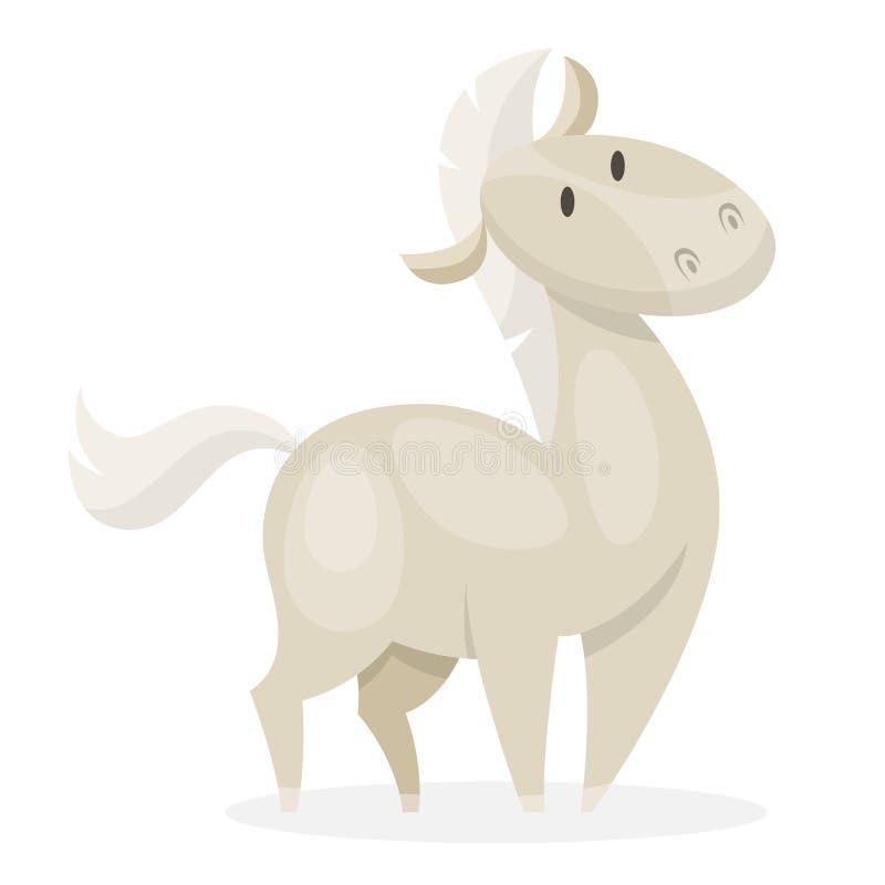 E 白色哺乳动物 库存例证