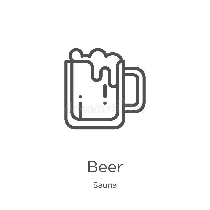 E 稀薄的线啤酒概述象传染媒介例证 r 向量例证