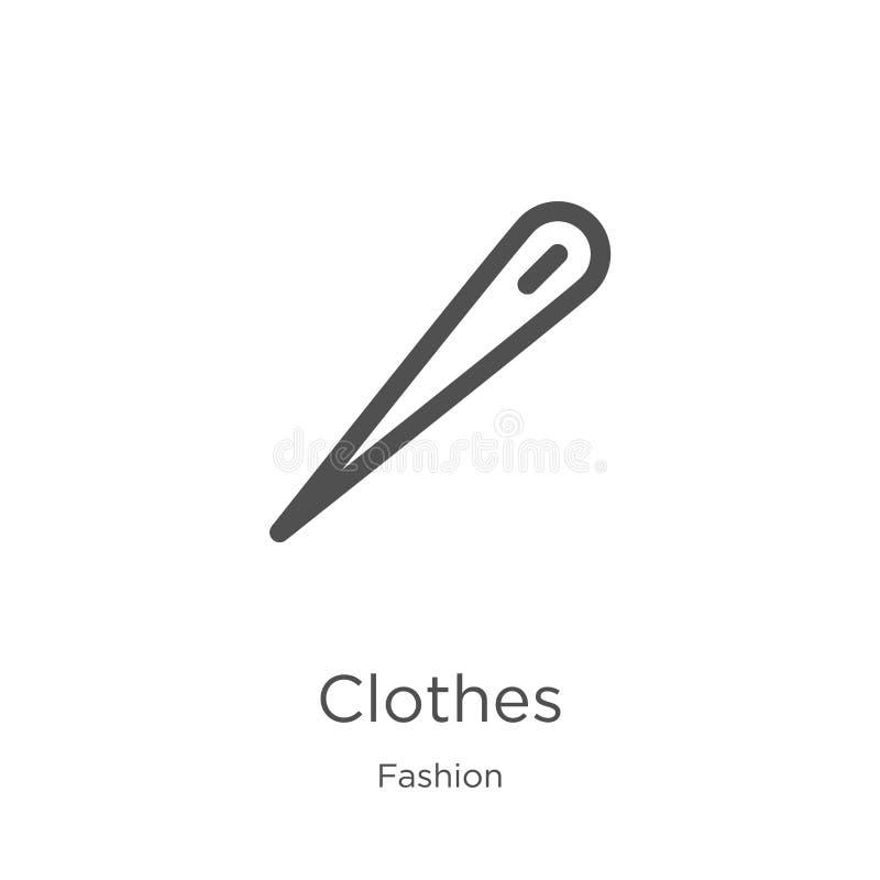 E 稀薄的线衣裳概述象传染媒介例证 概述,稀薄的线衣裳象 库存例证
