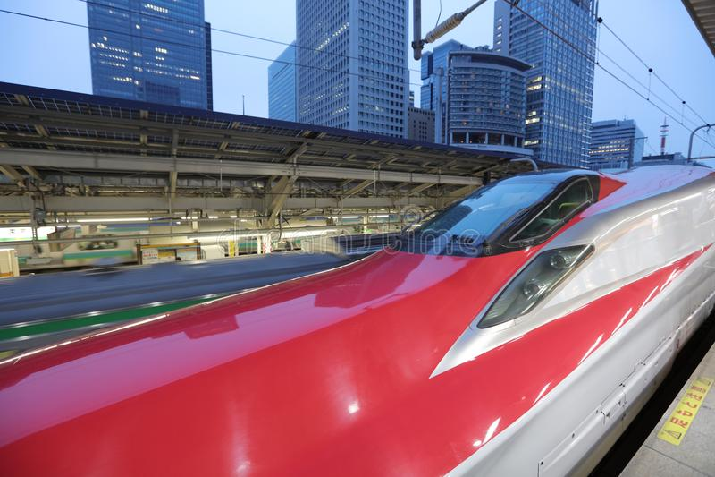 E6系列Shinkansen高速高速火车 图库摄影