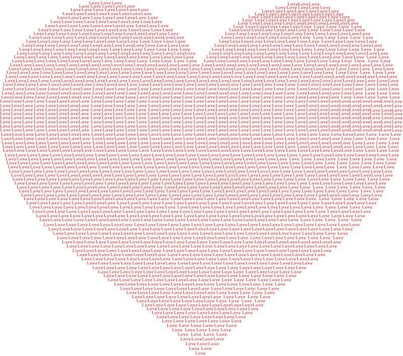 E 红色爱词 分享它充满爱 库存例证