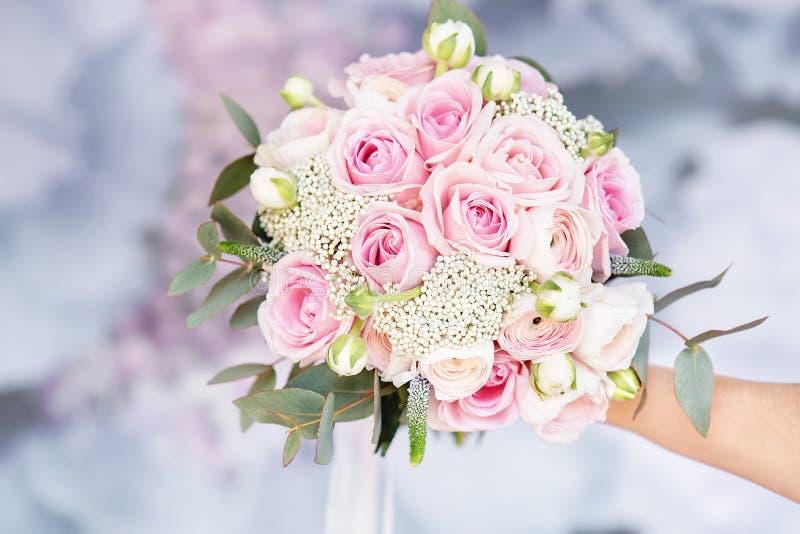 新娘时髦的婚姻的属性  E 库存照片