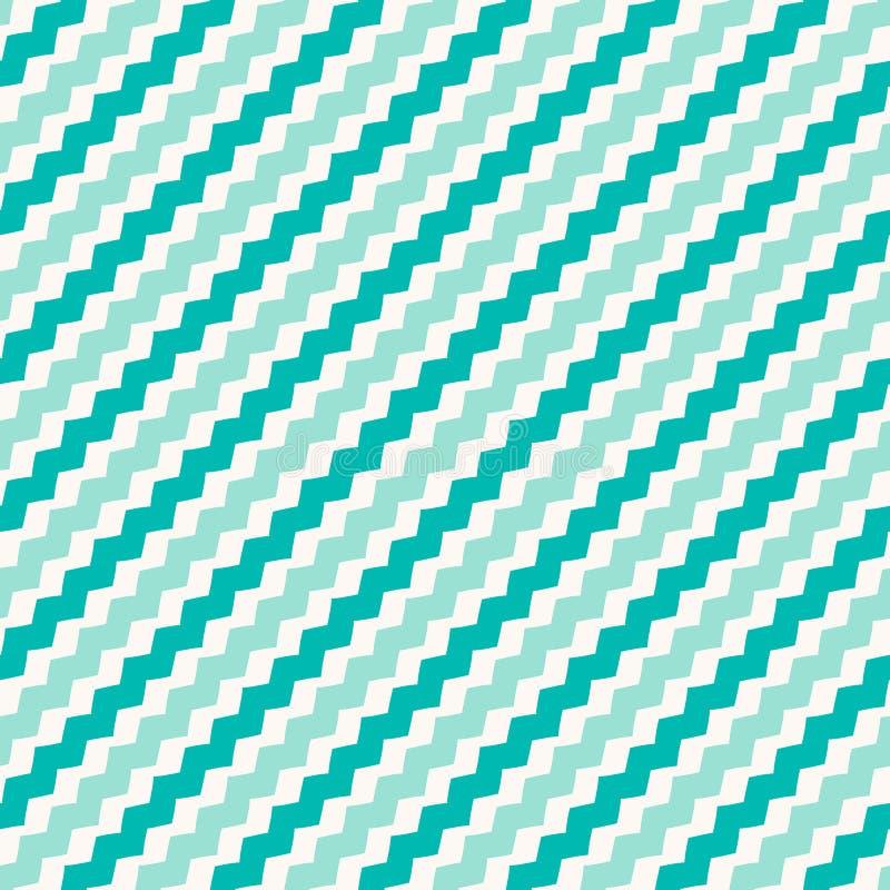E 绿松石抽象镶边装饰品 向量例证