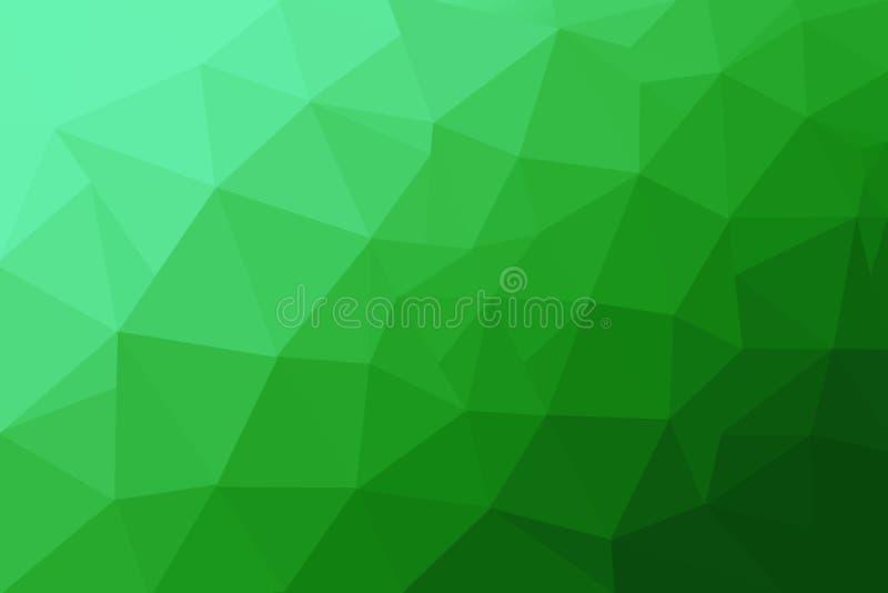 E 绿色多角形背景 库存例证