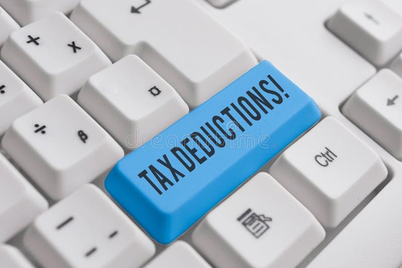 E 能被收税费用白色个人计算机的减少收入的企业概念 免版税库存图片
