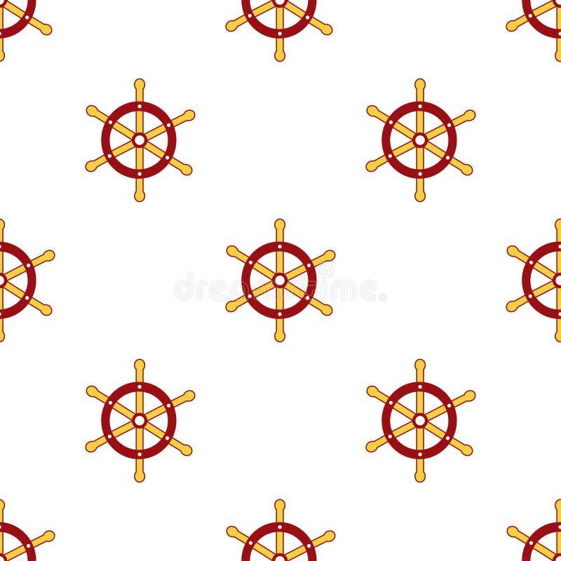 E 船的舵 您的设计的不尽的纹理,贺卡,公告,海报 - 向量图形 库存例证