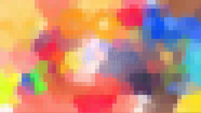 E 被弄脏的马赛克样式 映象点艺术 皇族释放例证