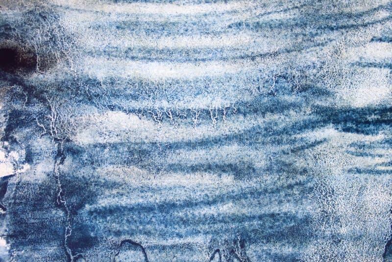 E 被绘的水彩刷子冲程污点,时髦抽象元素 向量例证
