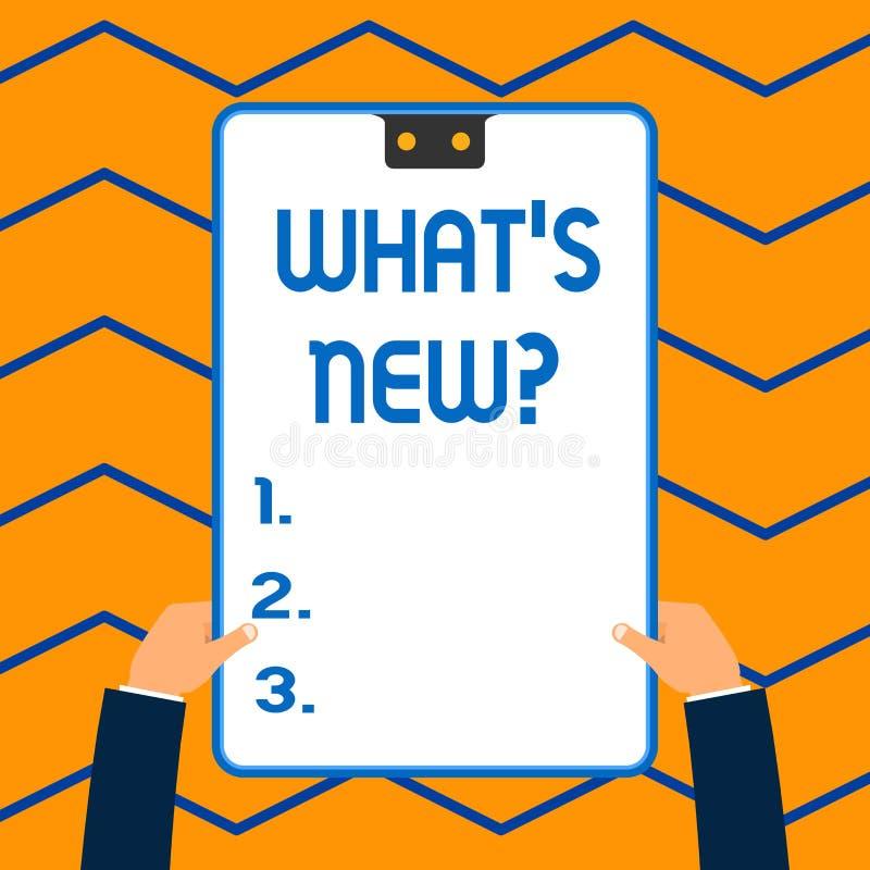 E 询问的企业概念最新的更新趋向发生的新闻白色 向量例证