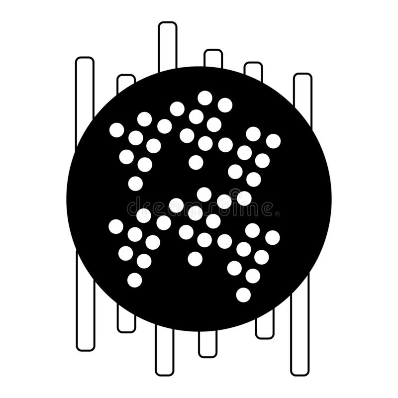 E 音频调平器象 ?? 音乐设计的抽象传染媒介元素与调平器 r 库存例证