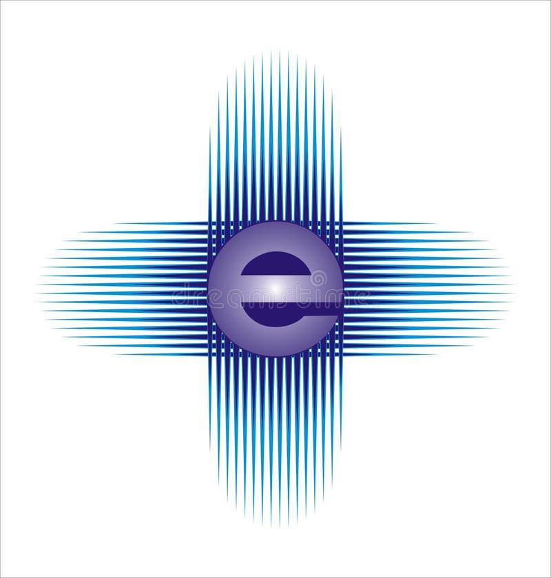 e 1 zarządzania logo royalty ilustracja