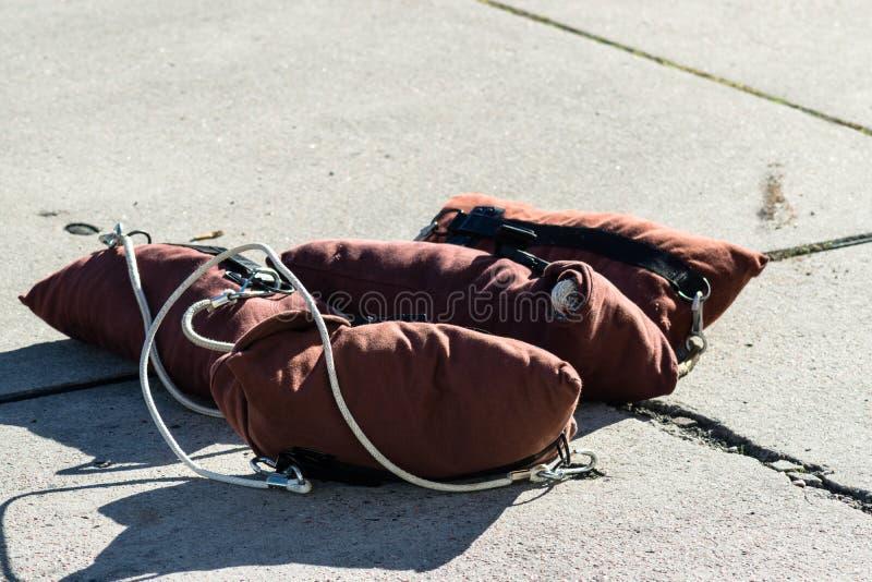 Пожарник-пожарник 'Rope Equipment' стоковые изображения rf