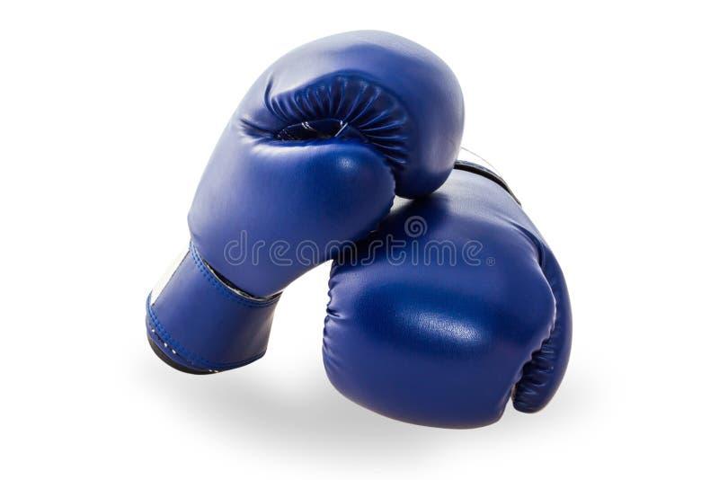 Синяя мифология или боксерская перчатка на белом фоне стоковое изображение