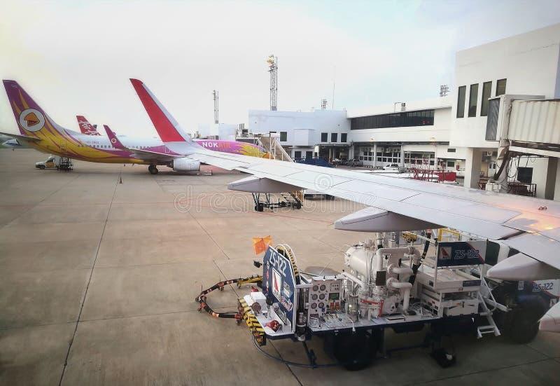 Мероприятия в аэропорту Дон Муэна, Бангкок, Таиланд стоковые изображения