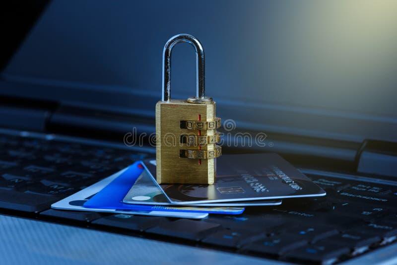 Нарушение безопасности данных кредитной карты стоковое изображение