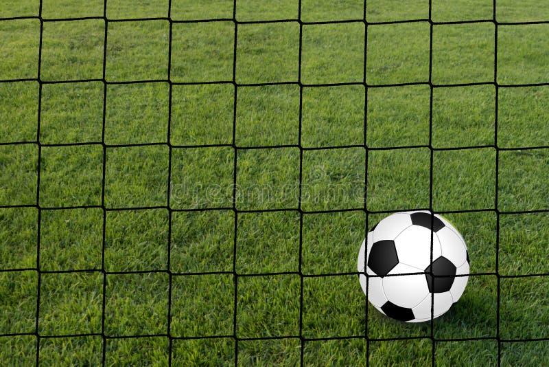 Футбол, вид сзади цели стоковые фотографии rf