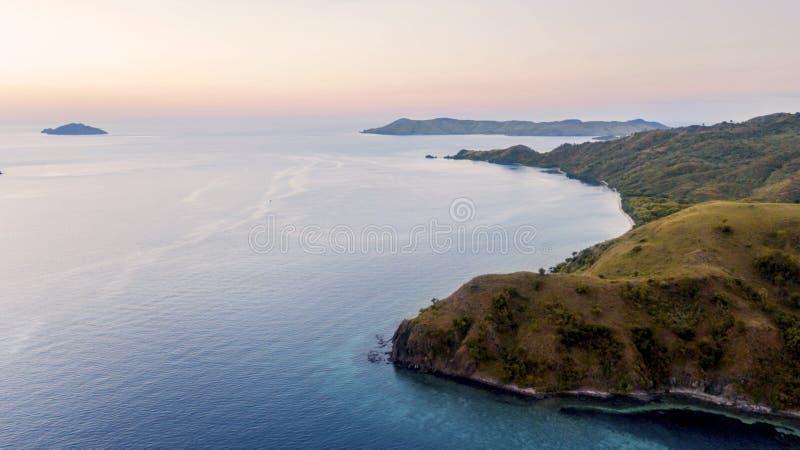 Экзотический остров Падар в закатное время стоковые фото