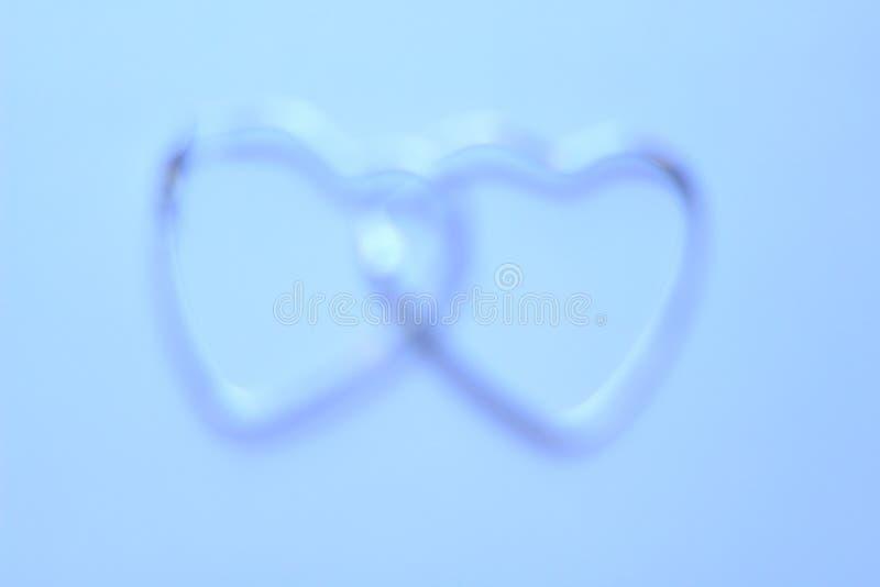 Фоновое изображение красивого синего сердца стоковая фотография