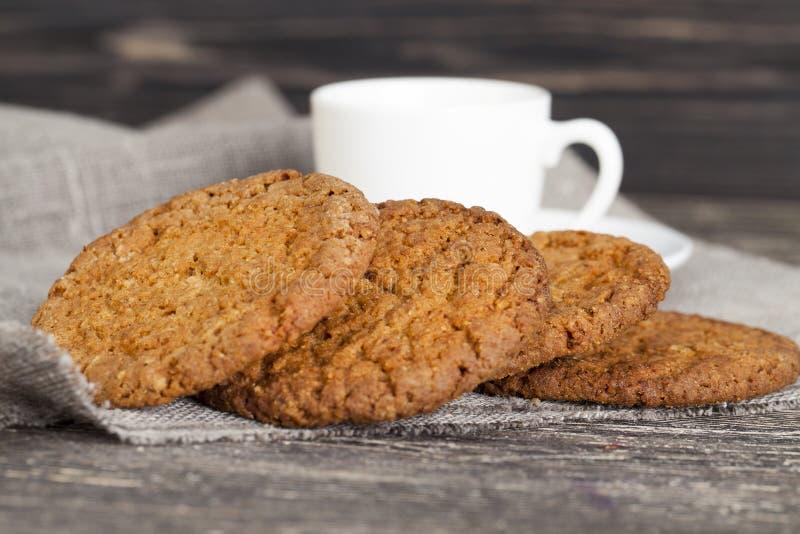 вкусные печенья овсяной каши стоковые фото
